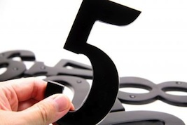 the number 5, abstract number 5, five