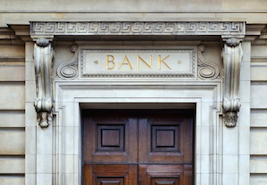 bank building, bank storefront, financial institution, bank doors, banks