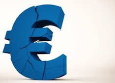 cracked euro image, cyprus bailout