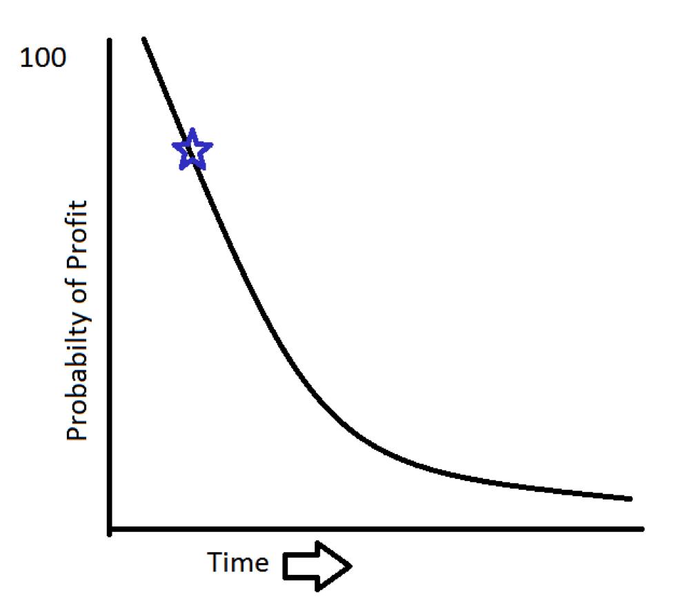 profit vs time probability chart