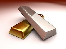 gold and silver bullion bars