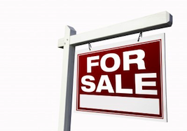 housing market for sale sign