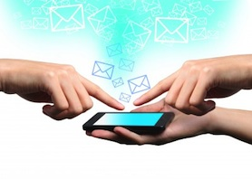 smartphone messages, online sharing, mobile messages, electronic sharing