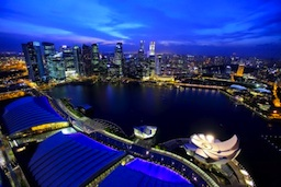 singapore marina in beautiful southeast asia