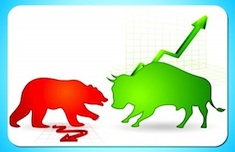 bull and bear, successful trading