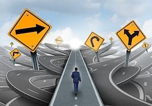 investor walking through uncertainty