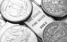 silver coins bars