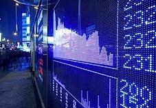 stock market performance board