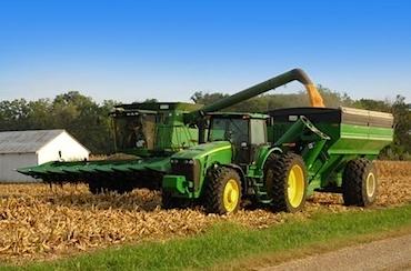 corn combine harvest