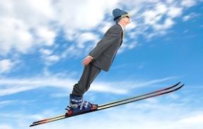 investor skiing