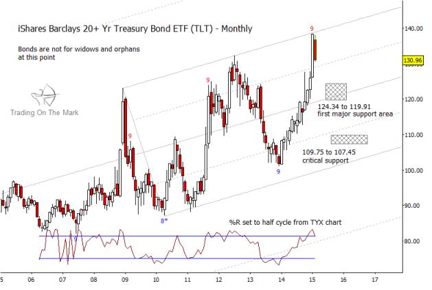 tlt treasury bonds elliott wave chart 2015-2016