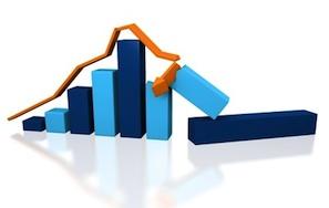 stock market broken trend line
