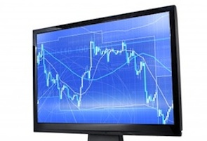 stock market trading screen