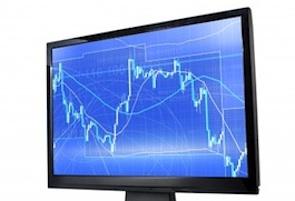 stock market trading screen