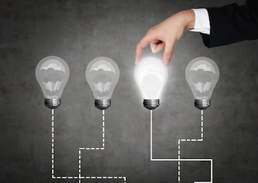 trading categories light bulb