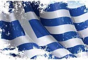 greek flag - financial crisis