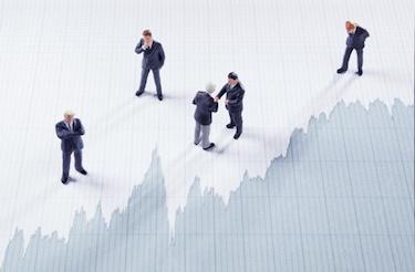 investors stock market chart