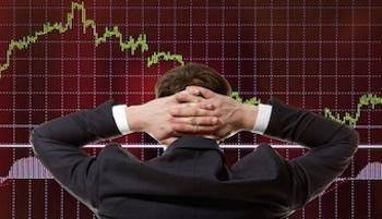trader watching screen