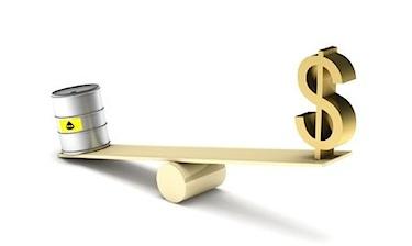 gold vs crude oil weigh scale