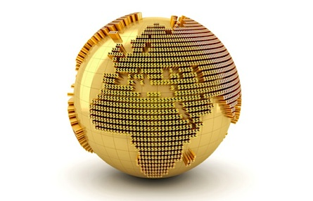globe made out of gold