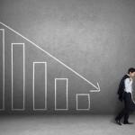 market chart heading lower investor
