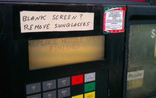 gas pump reading