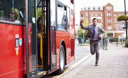 investor catching the bus