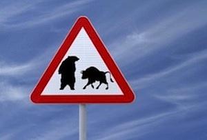 stock market bull bear warning sign