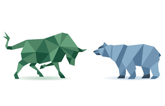 bear and bull investing abstract image