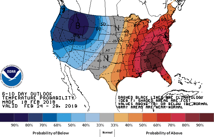noaa near-term weather forecast chart