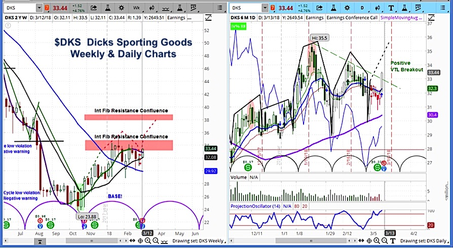 dicks sporting goods earnings dks stock price higher bullish chart_march 12