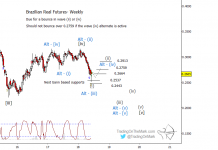 brazilian real currency futures elliott wave forecast outlook chart year 2018
