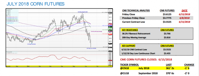 Trading corn futures options