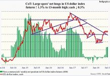 june 20 cot report us dollar index futures positions chart investing