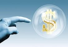 market bubble image dollar sign