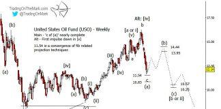 uso united states oil fund etf elliott wave bear market decline forecast chart