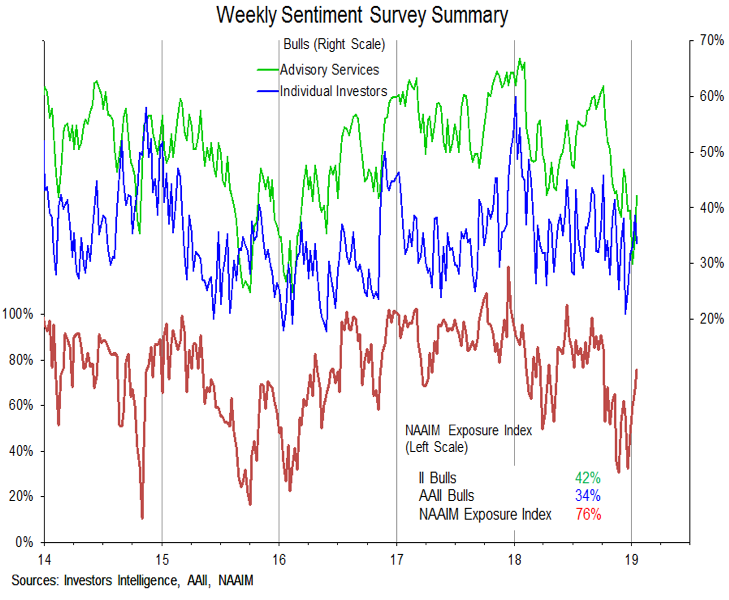 investor sentiment improving bulls bears chart analysis january 18