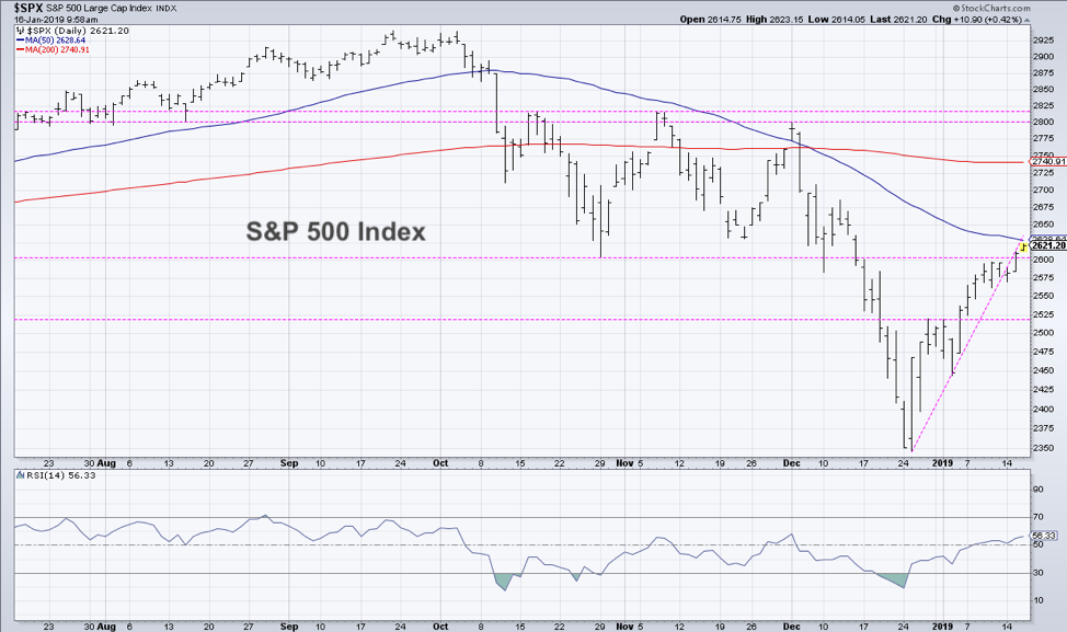 s&p 500 bear market rally swing highs important investing january year 2019