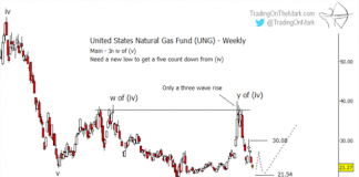 natural gas fund ung elliott wave analysis forecast chart_15 february 2019