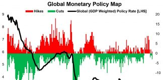 global monetary policy map interest rates falling year 2019 central banks