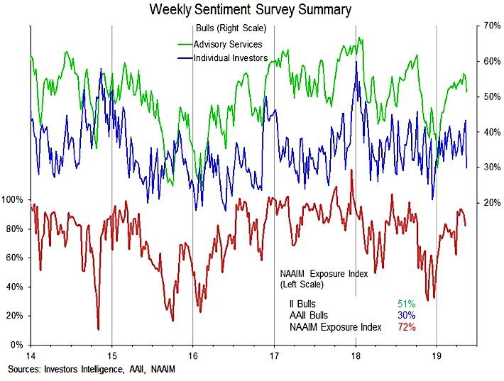 investor sentiment surveys polls all summary week may 17