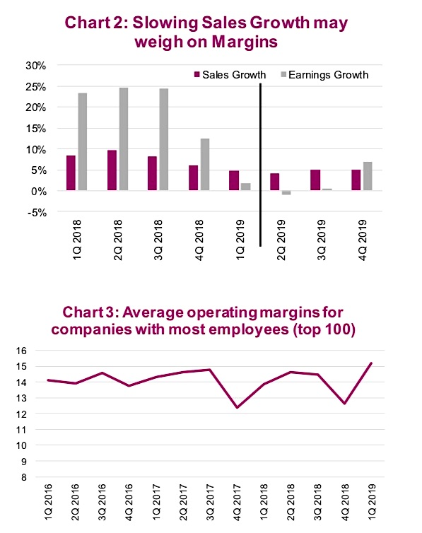 year 2019 corporate earnings margins slowimg sales growth chart image news
