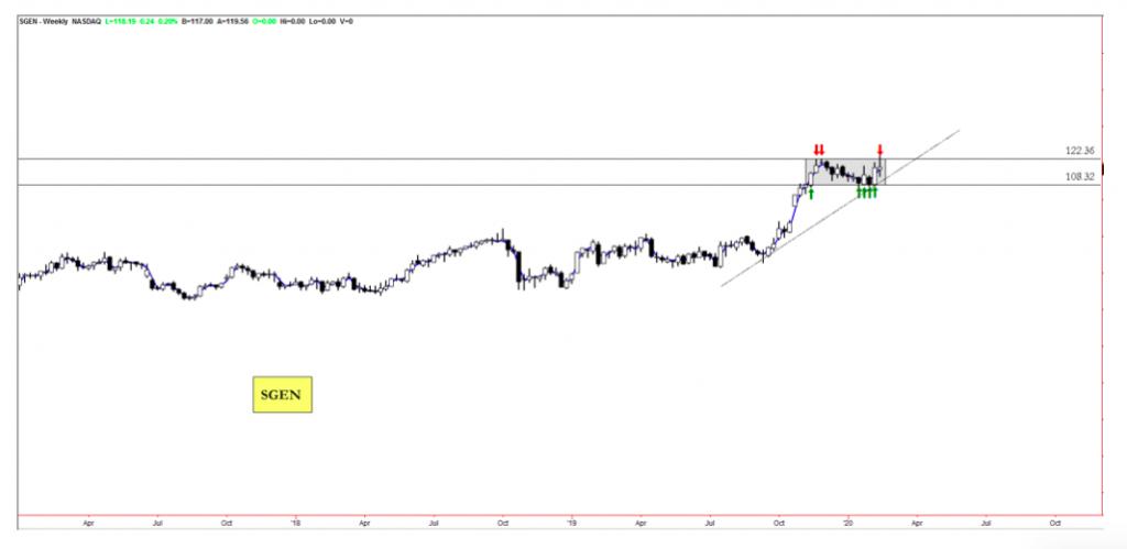 seattle genetics stock price breakout analysis sgen bullish analysis february 13