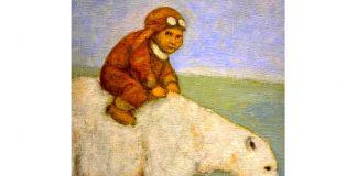 investor riding bear