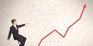 investor riding bull market higher