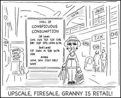 shopping mall investing comic funny image.