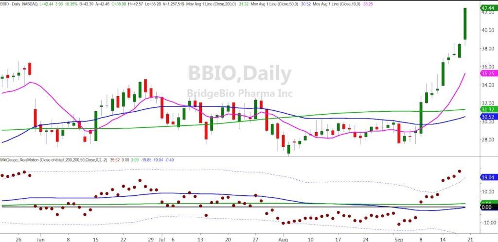 bridgebio pharma stock biotech buy signal price rally chart image september